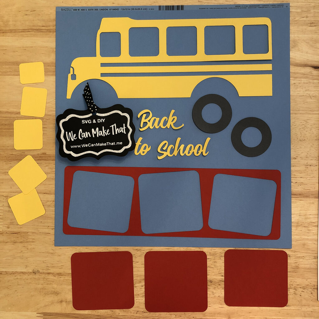 School bus Scrapbook page