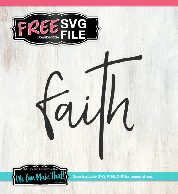 Faith Word SVG