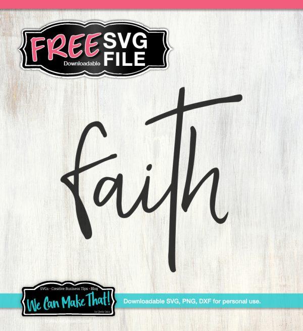 Faith Word SVG