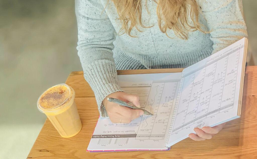 lady using my entrepreneur planner