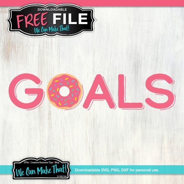 GOALS Donuts SVG