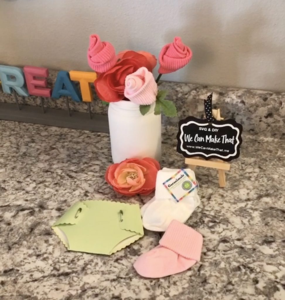 How to make Baby Sock Flowers