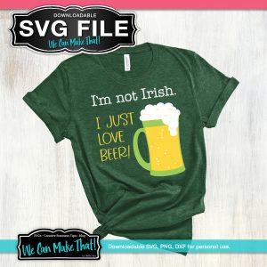 St. Patrick's Day SVG Beer