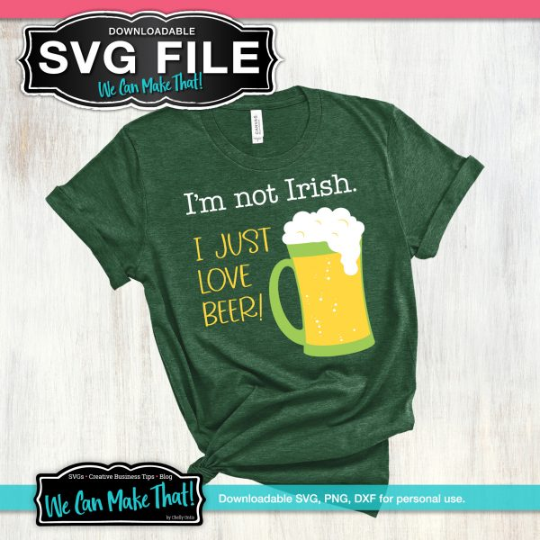 St. Patrick's Day SVG Beer