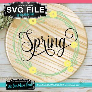 Spring Wreath SVG