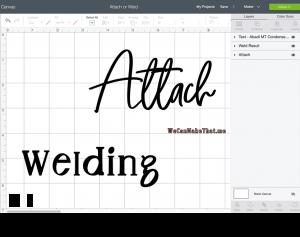 attach or Weld Design Space