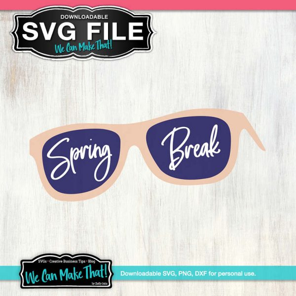 Sunglasses Spring Break SVG