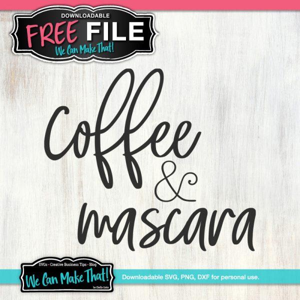 Coffee and Mascara SVG