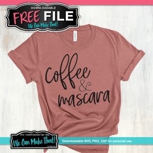 Coffee and Mascara SVG