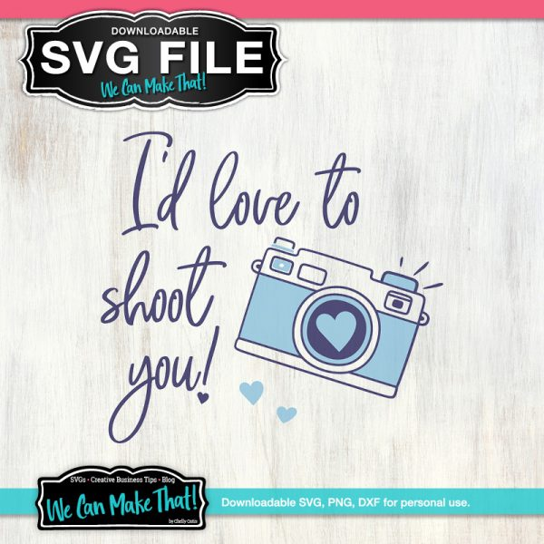 I'd love to shoot you SVG