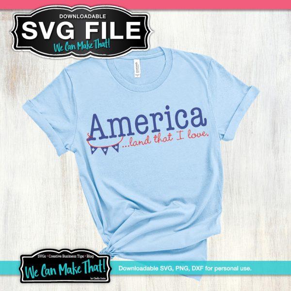 America Land that I love SVG