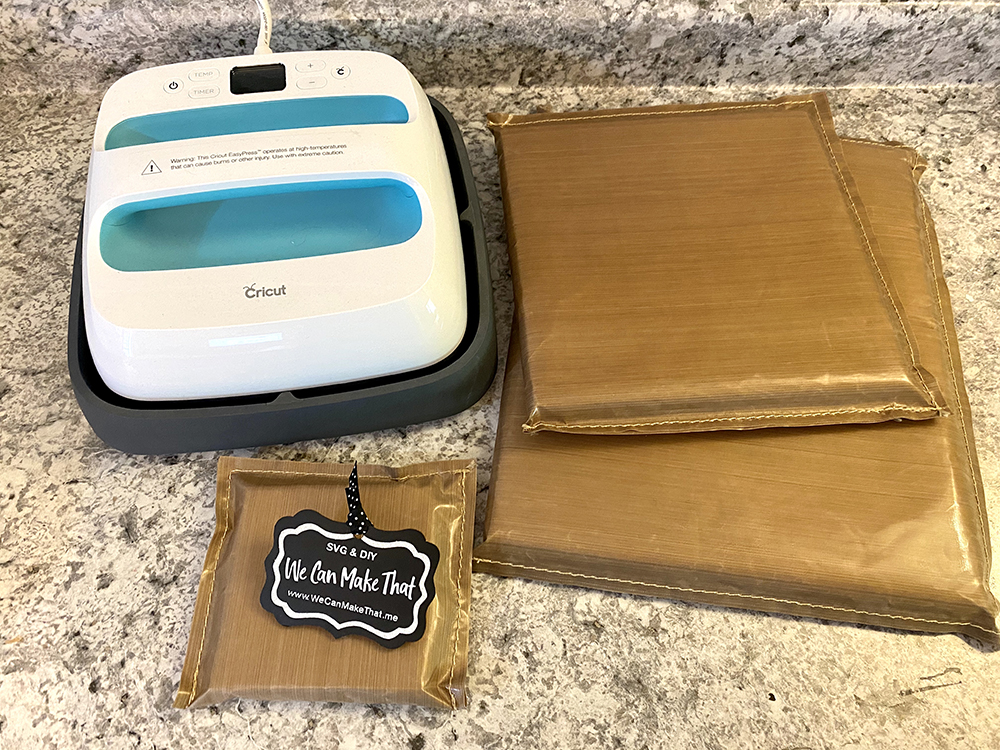 Cricut Easy Press and pressing pads