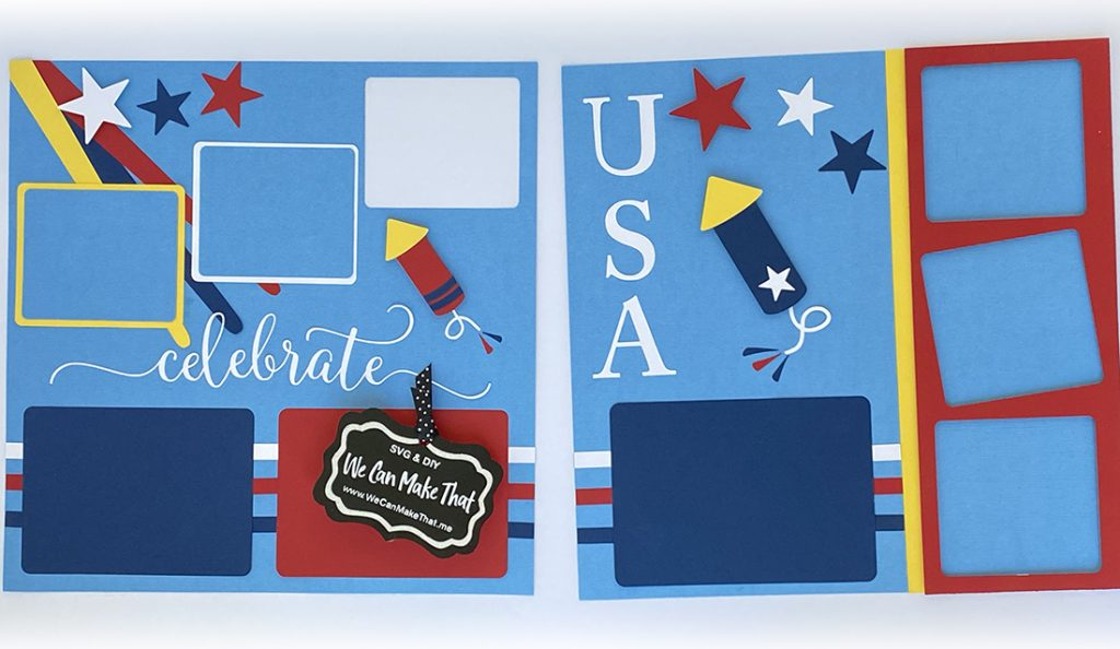 Firecracker Scrapbook Page Idea