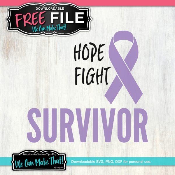 Hope Fight Survivor SVG
