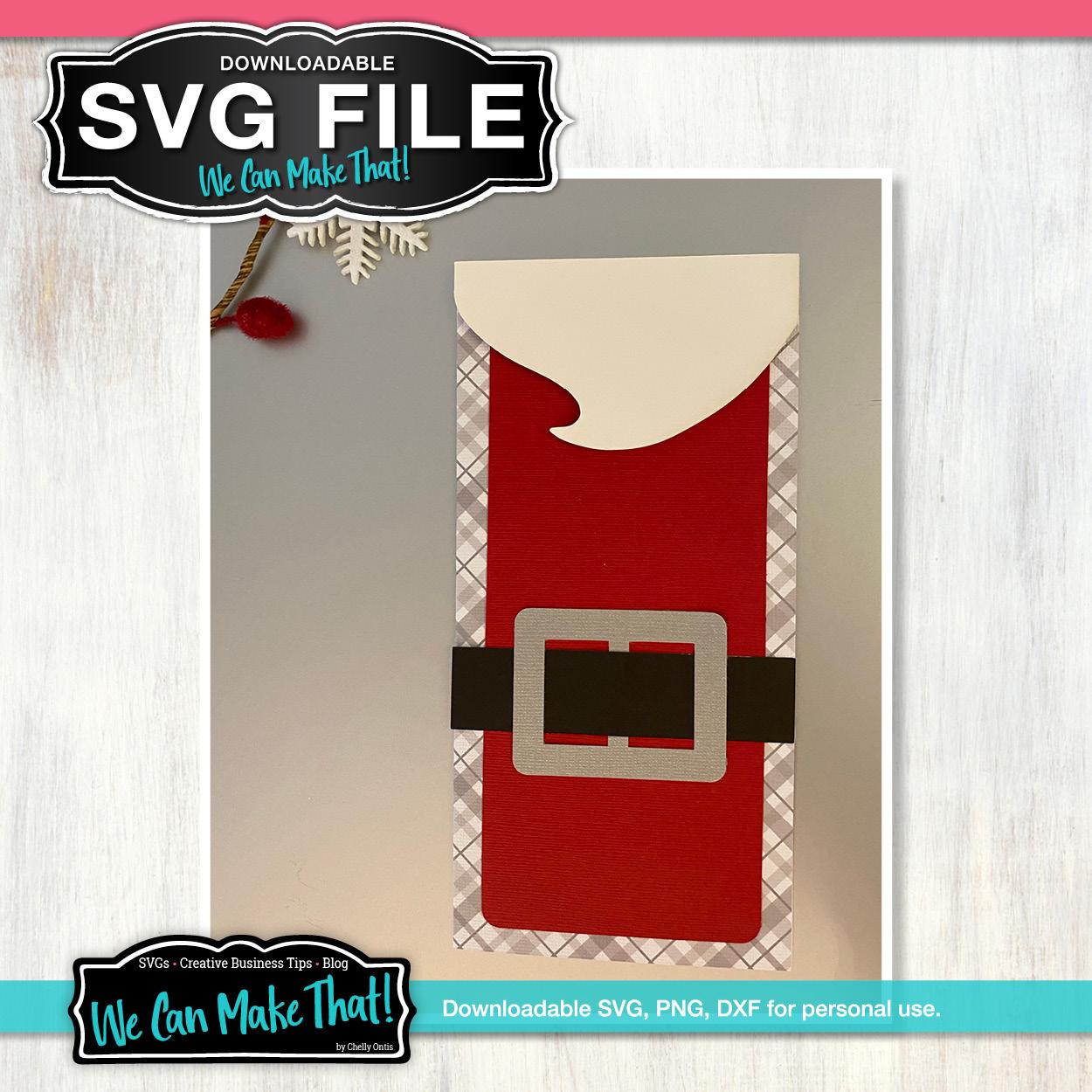 Santa Belt Card SVG