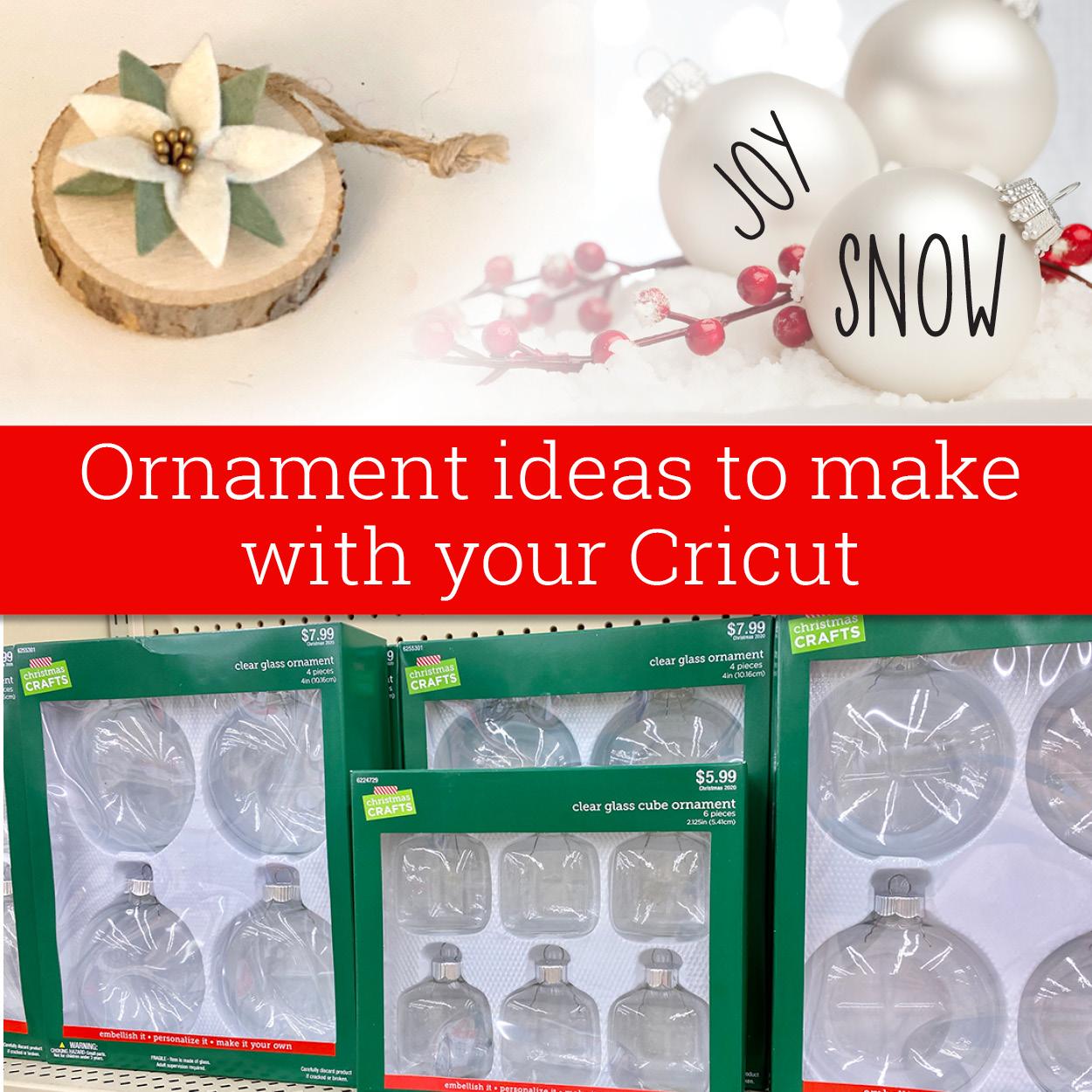 Ornament ideas for Cricut
