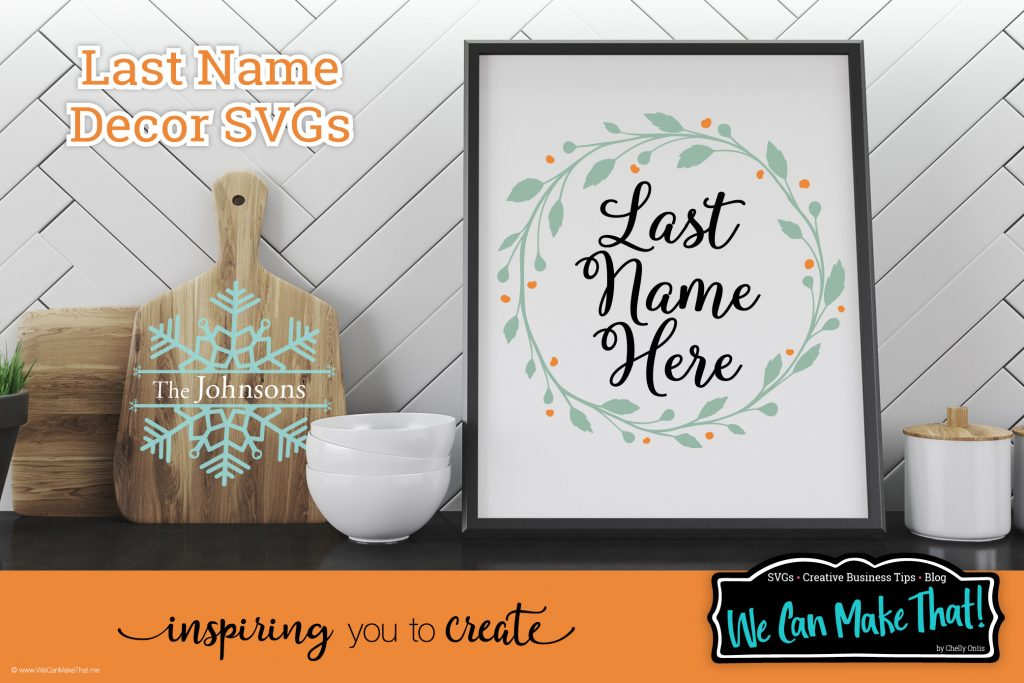 Last Name SVGs