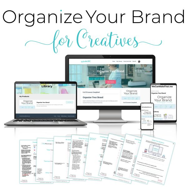 Organize your brand course