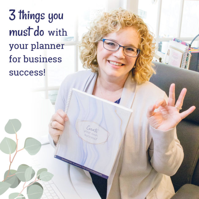 Using a planner for business