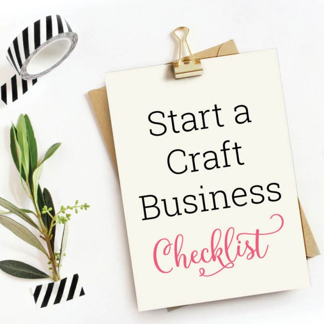 Start a craft business checklist
