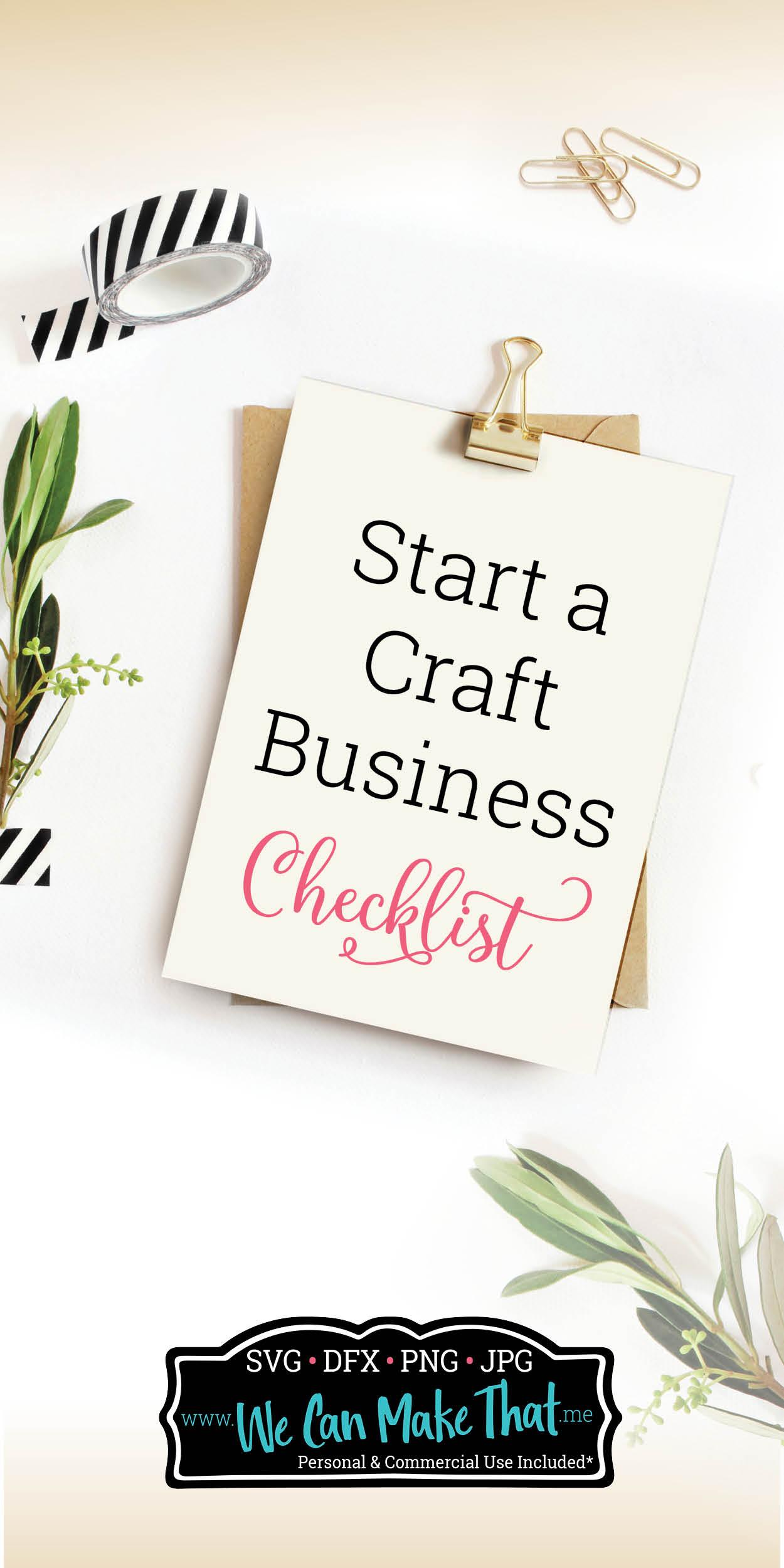 craft business checklist