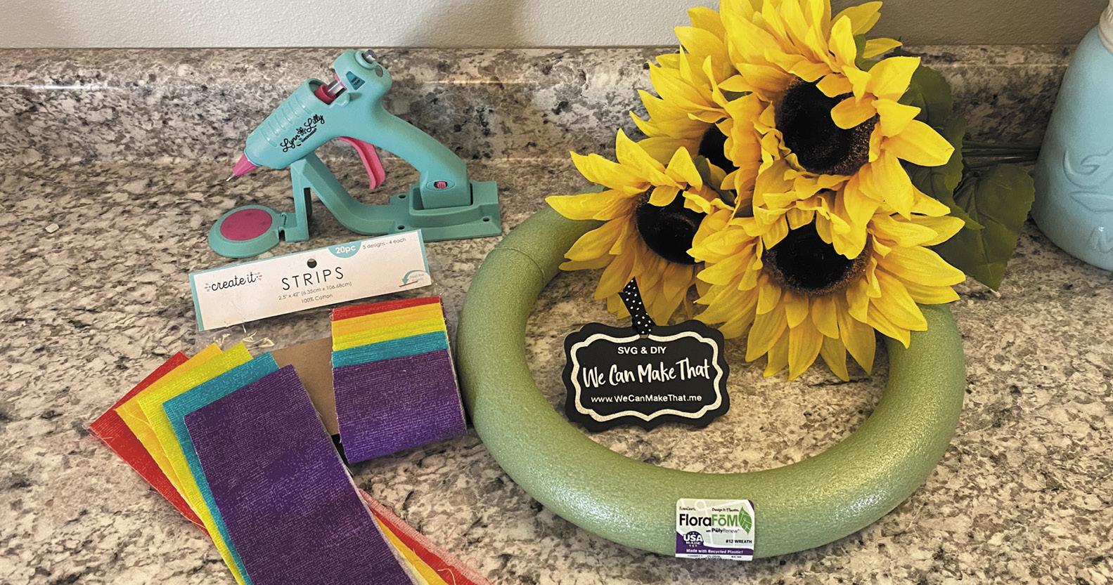 Easy Summer Wreath DIY supplies