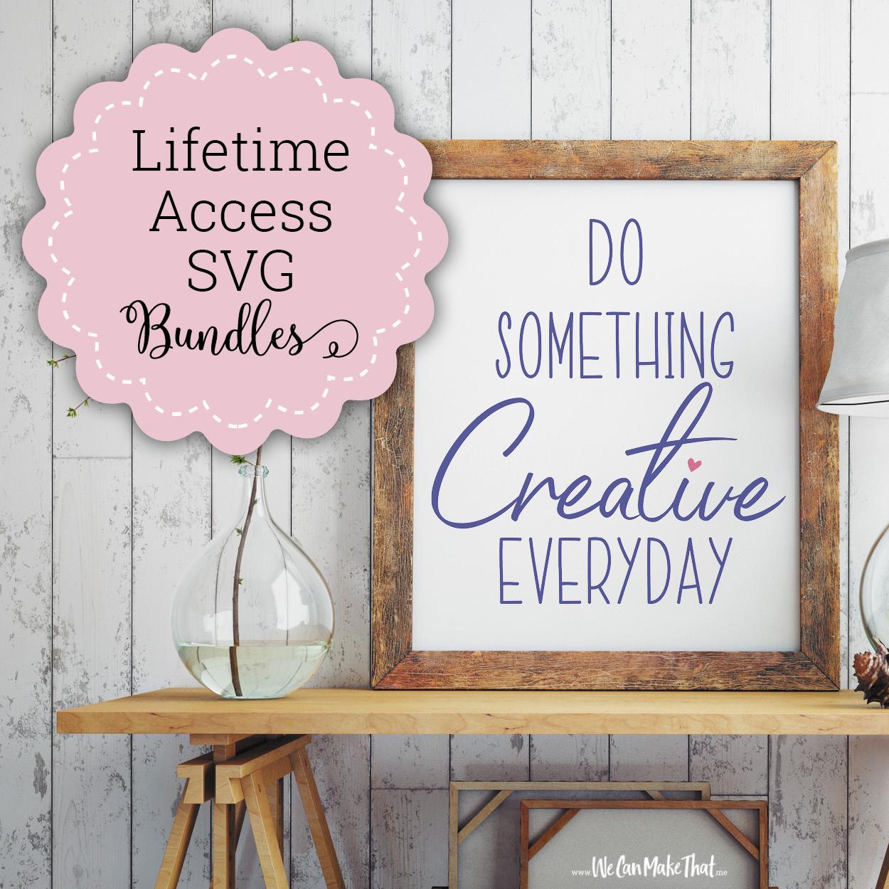 Lifetime Access SVG Bundles