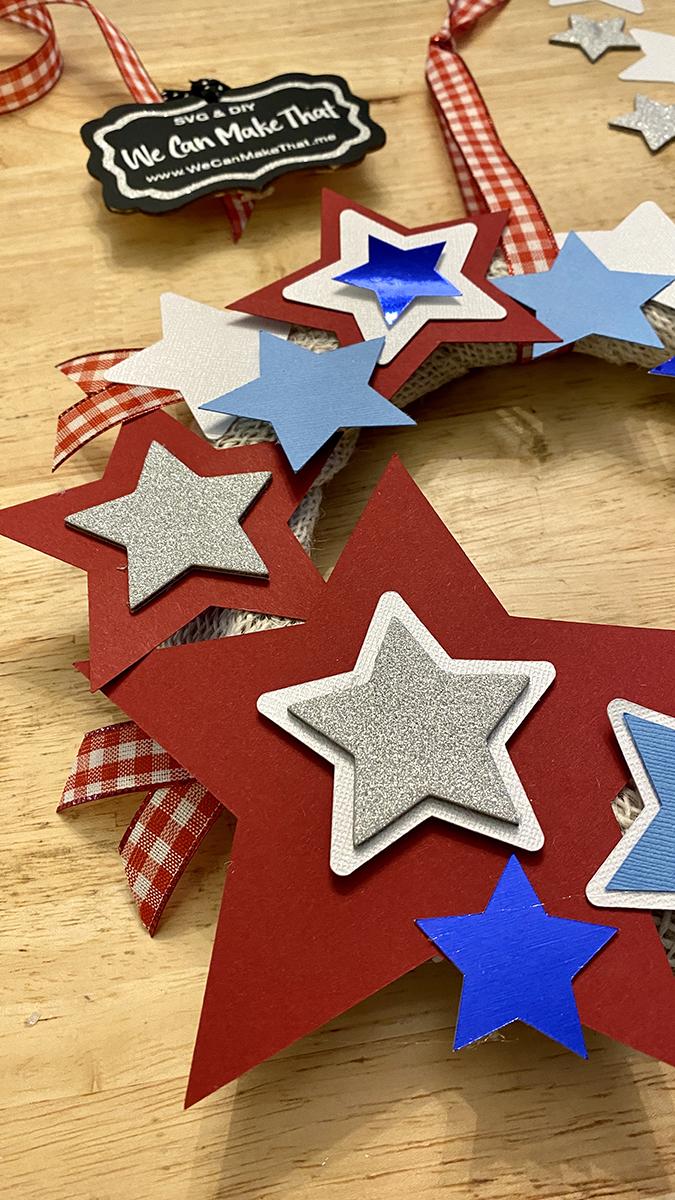 Partriotic Wreath DIY Stars