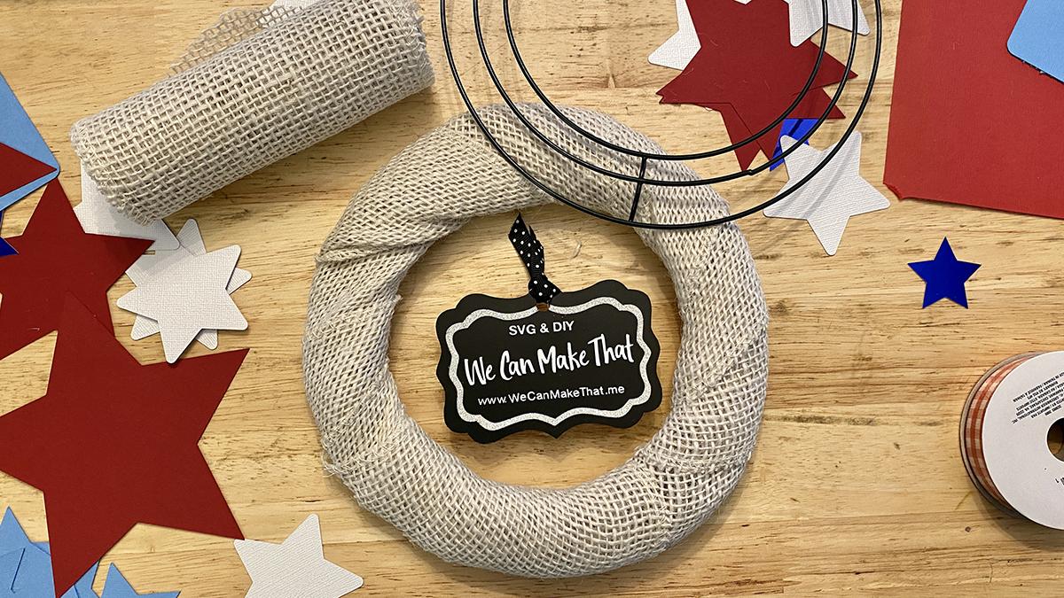 Partriotic Wreath DIY supplies
