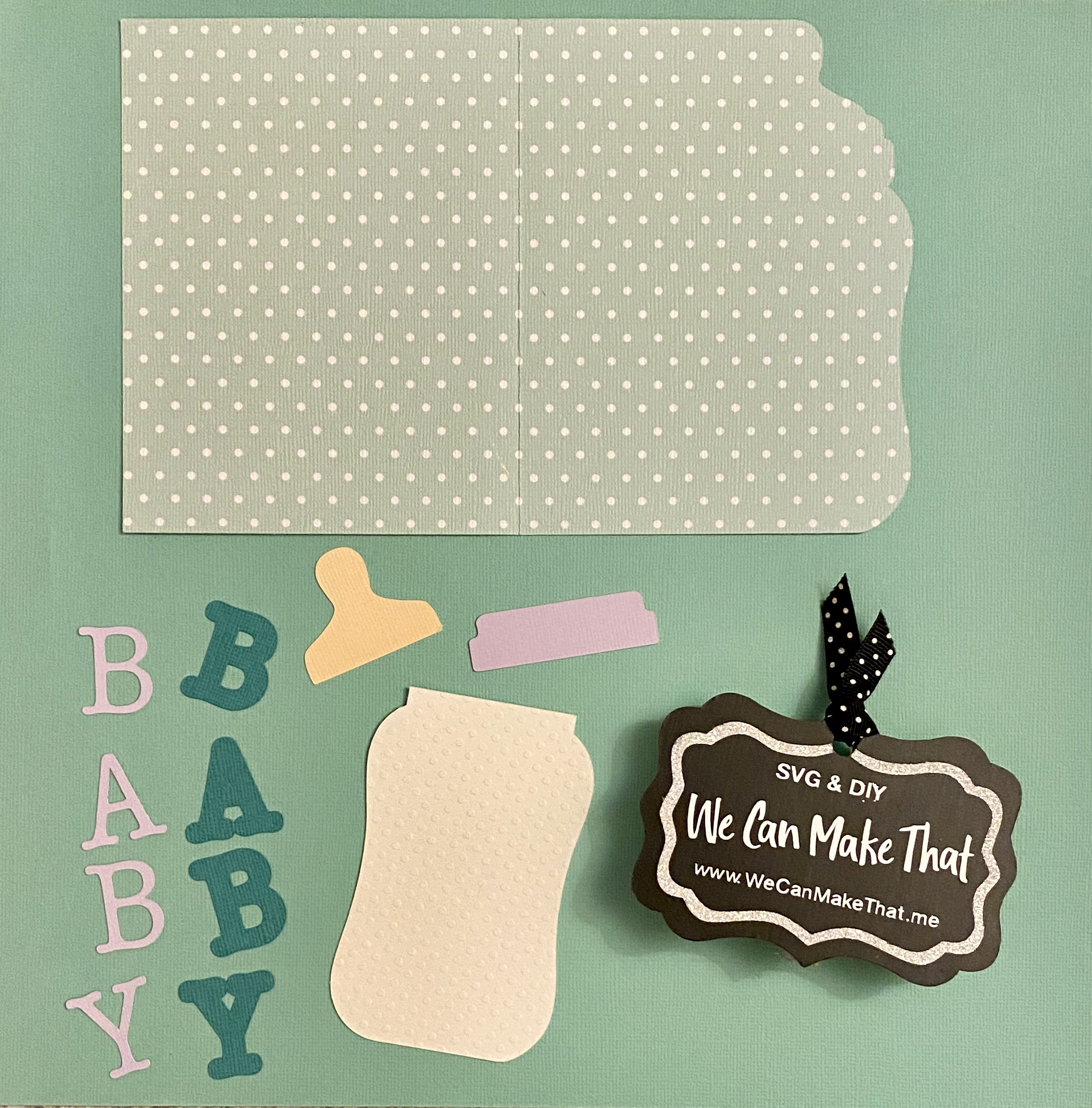 Baby Card SVG
