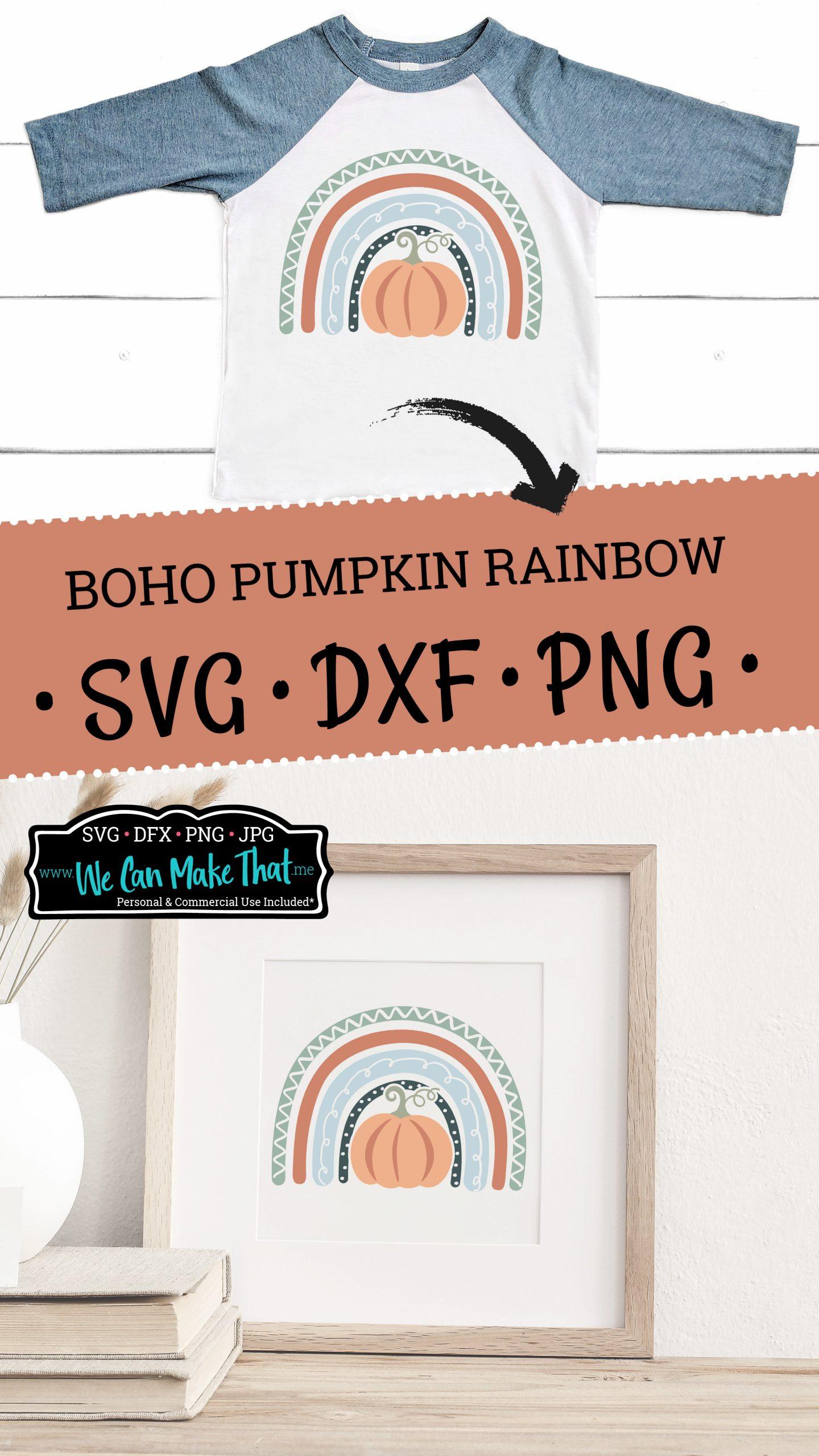 Boho pumpkin rainbow