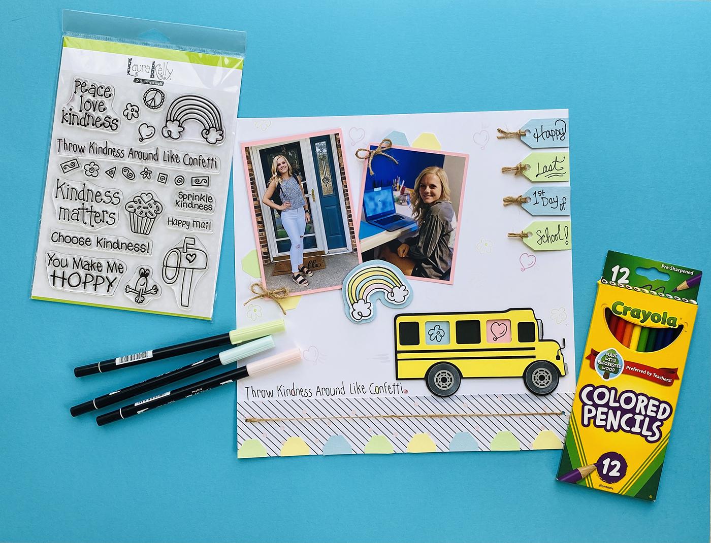 Back to school scrapbook page idea
